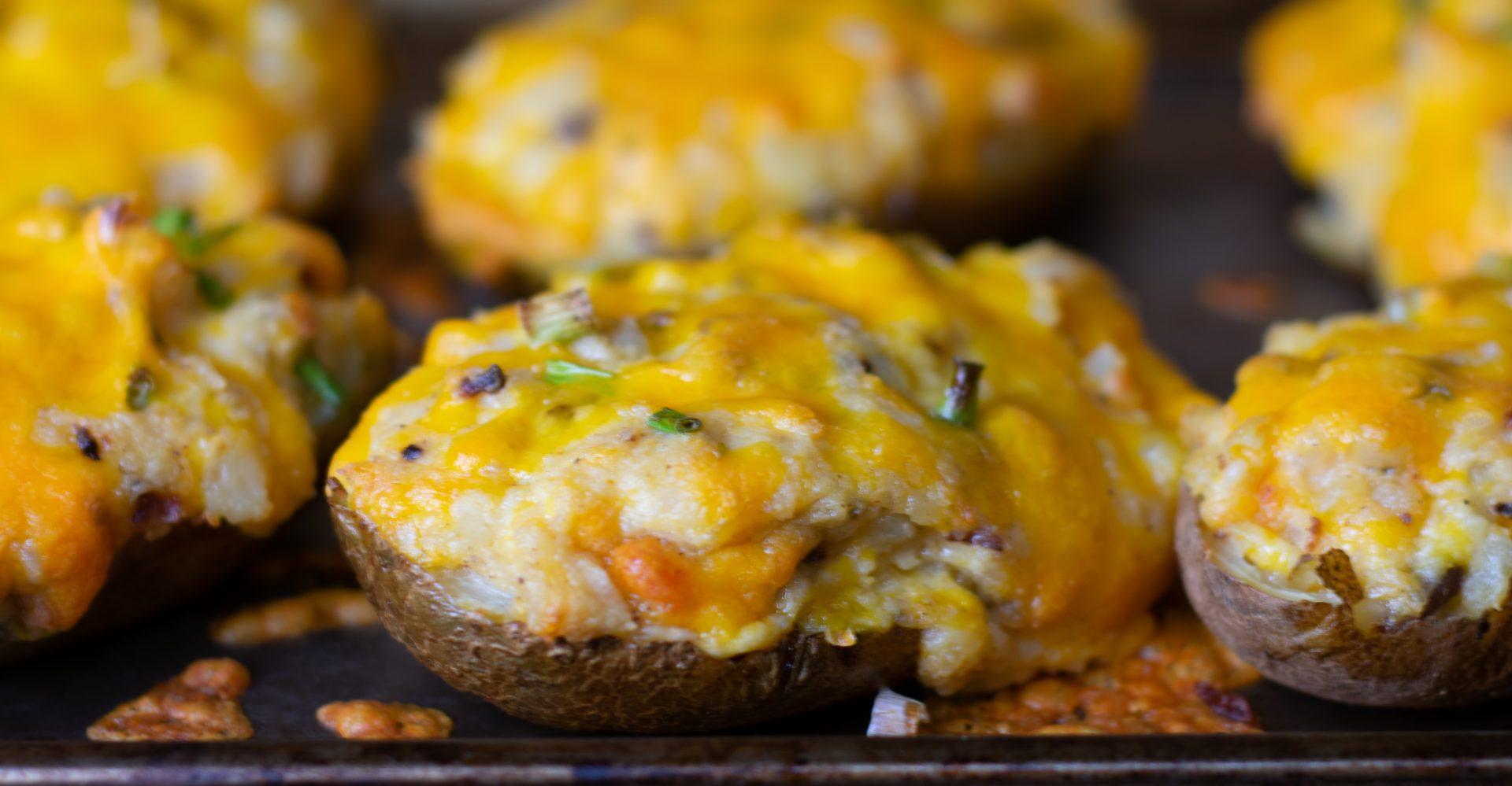 loaded twiced baked potatoes