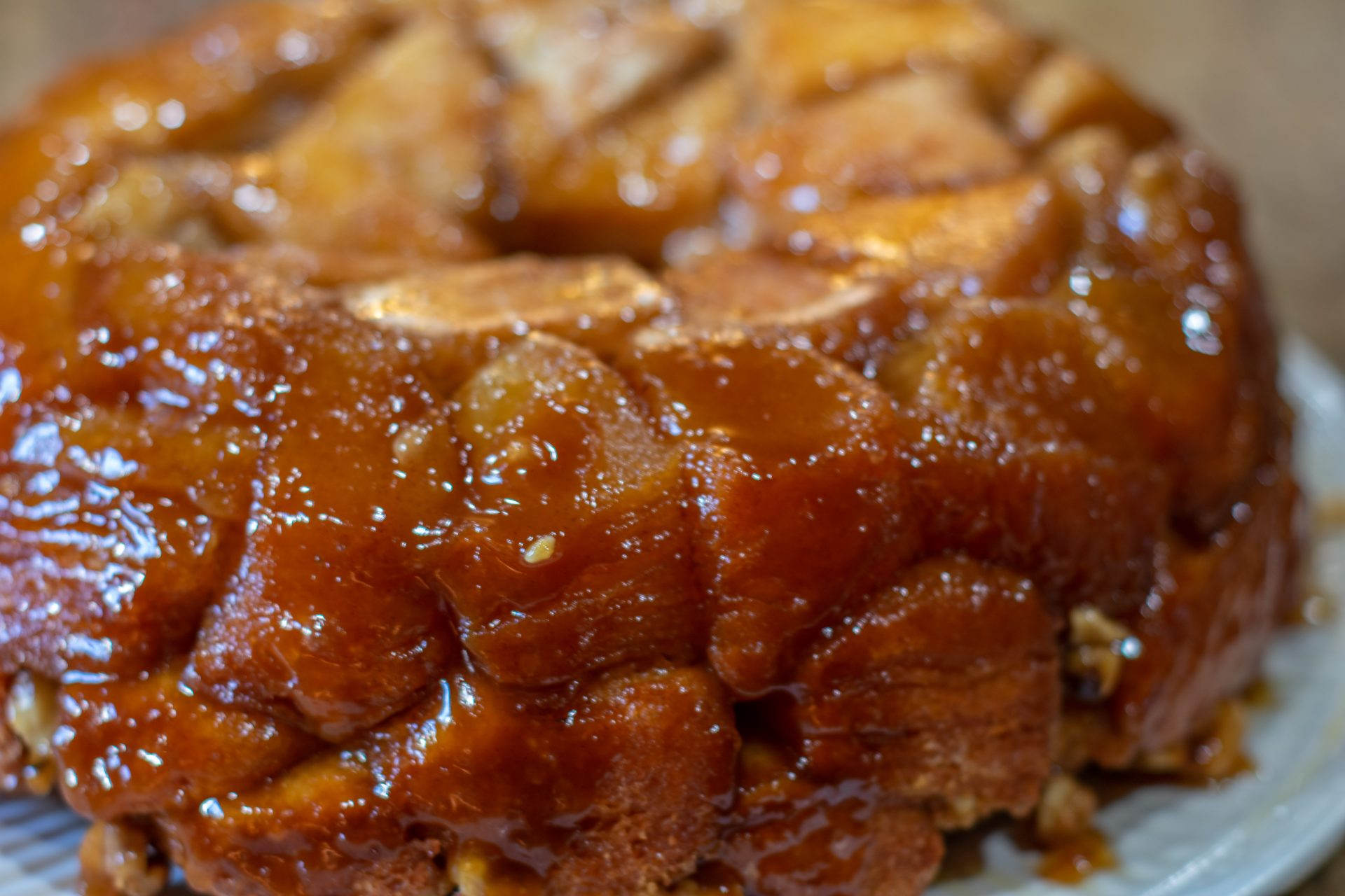 close up of monkey bread